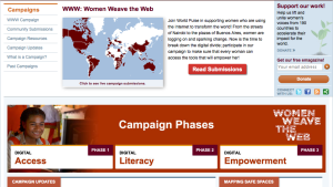 Women Weave the Web Campaign